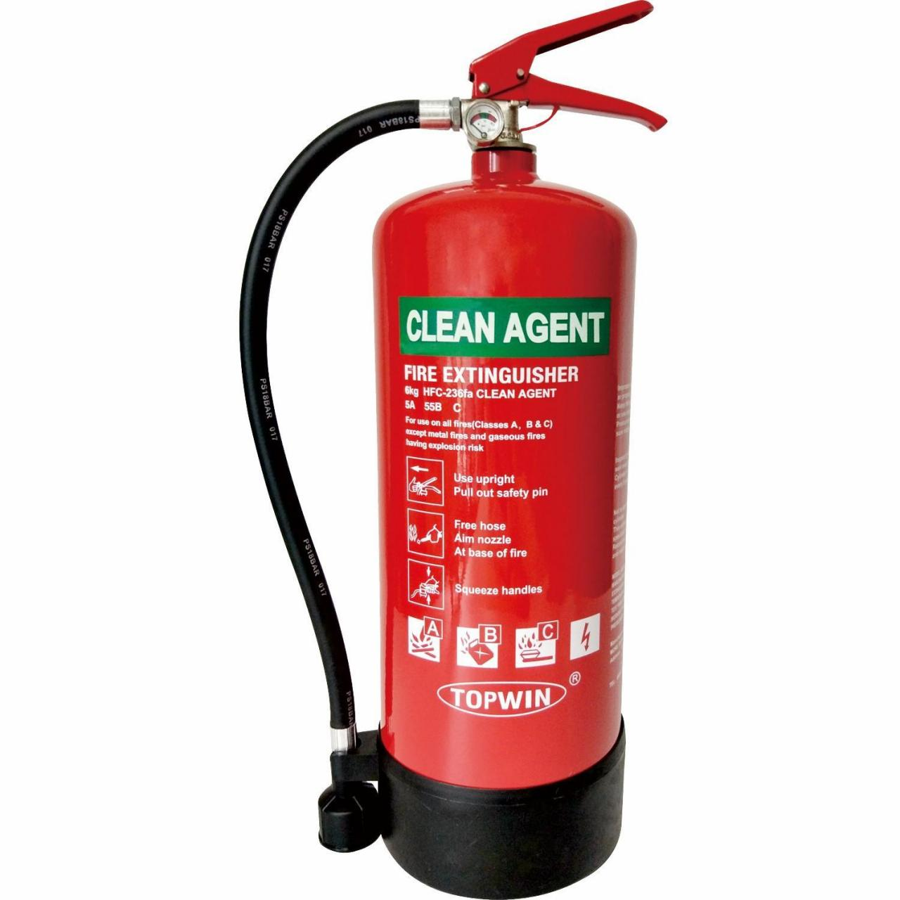 China 6kg Clean Agent Extinguisher on sale