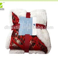 China 2 Ply Warm Printed Artificial Lamb Fleece Blanket on sale