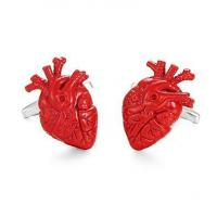 Wholesale Anatomical heart enamel Cufflinks from china suppliers