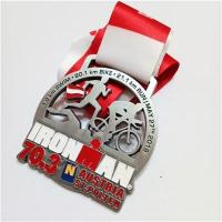 Buy cheap Custom metal running finisher race sports medal from wholesalers