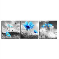 China Blue Flower Still Life Paintings Wall Decor on sale