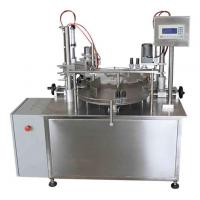 Wholesale Rotary Table Bottle Filling and Capping Machine with Inlet and Outlet Conveyors from china suppliers