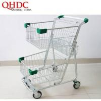 China Double Basket Shopping Cart Mall Trolley on sale