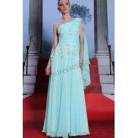 Wholesale Light Blue one shoulder Lace Bridesmaid dress SY050 ready to wear from china suppliers