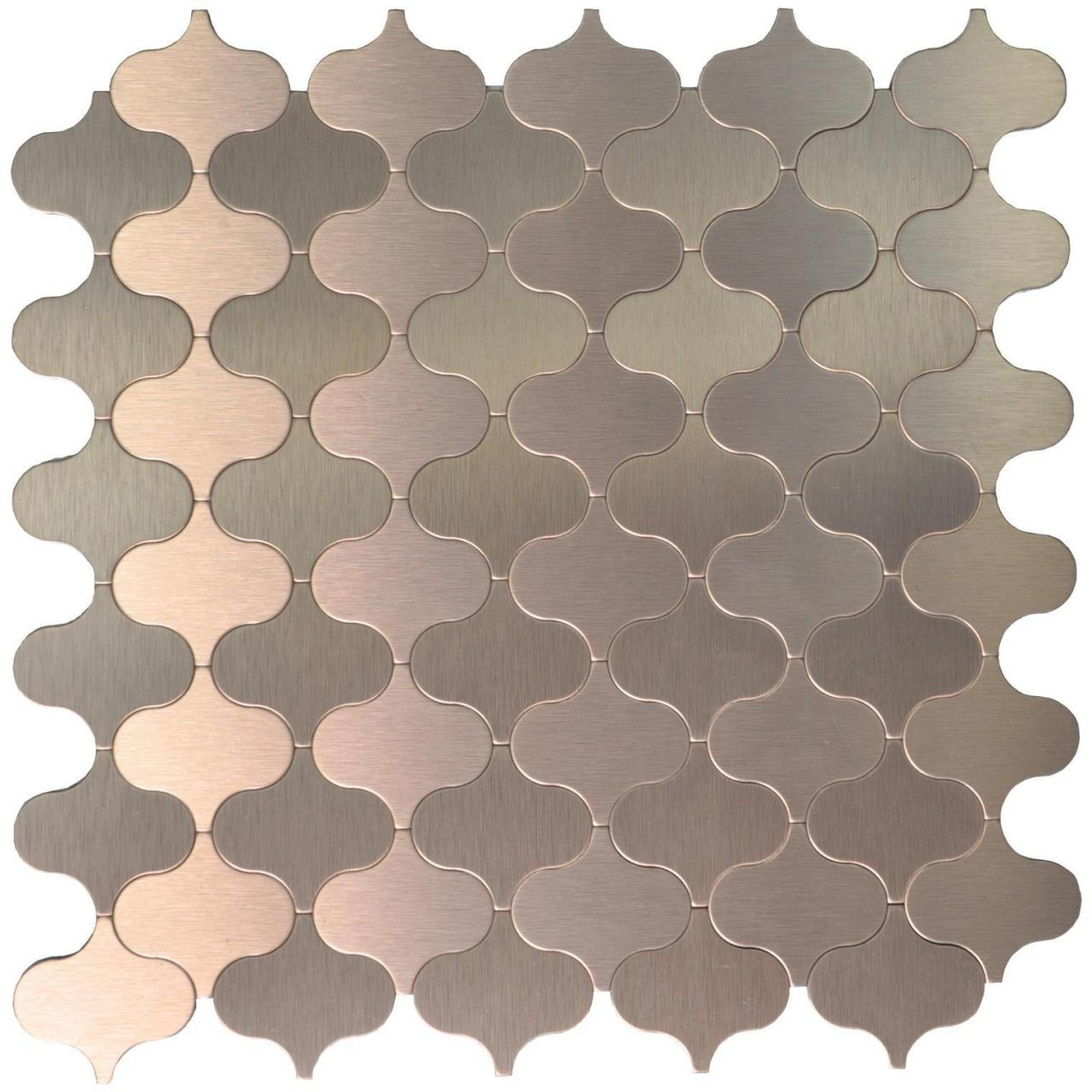 Wholesale A16005 - 10 Sheets Peel & Stick Aluminum Metal Mosaic Tile Bronze Lantern Style 12x12In from china suppliers