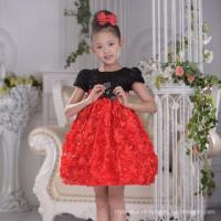 Wholesale Fashion Floral Red Party Wear Dresses For Girls Of 2-6 Years,Birthday Dresses Imported From China from china suppliers