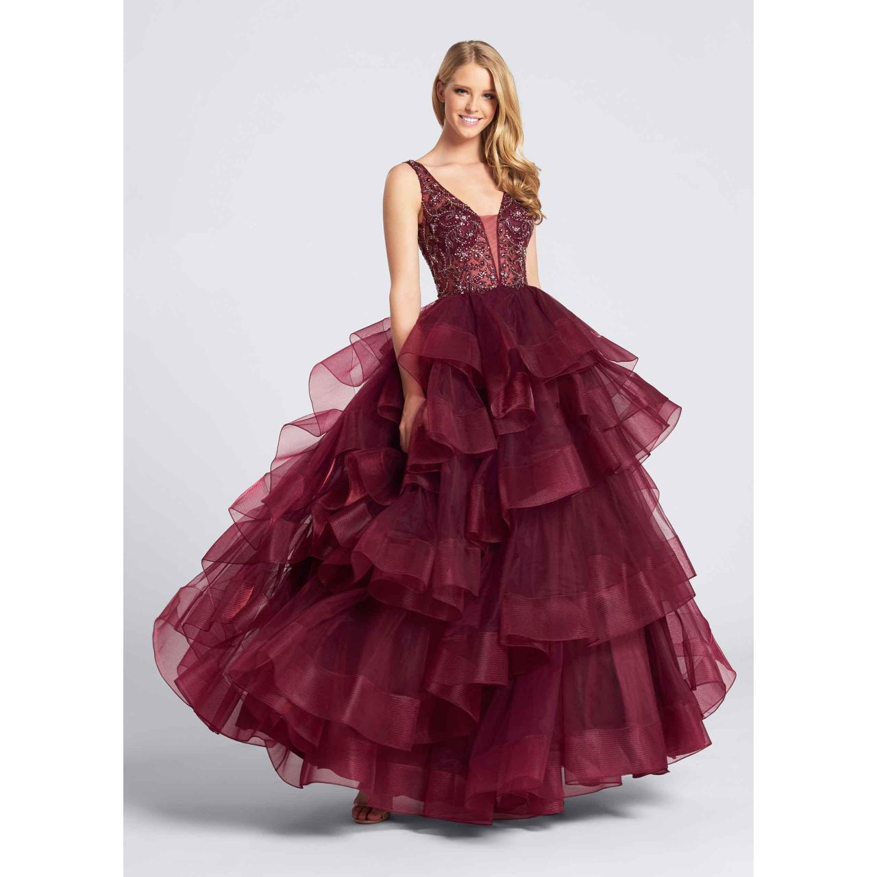 Wholesale Burgundy Prom dress PM187932 from china suppliers