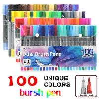 Buy cheap 100 Color Brush Pens with Fineliner Tip Dual Tip Marker Pens from wholesalers