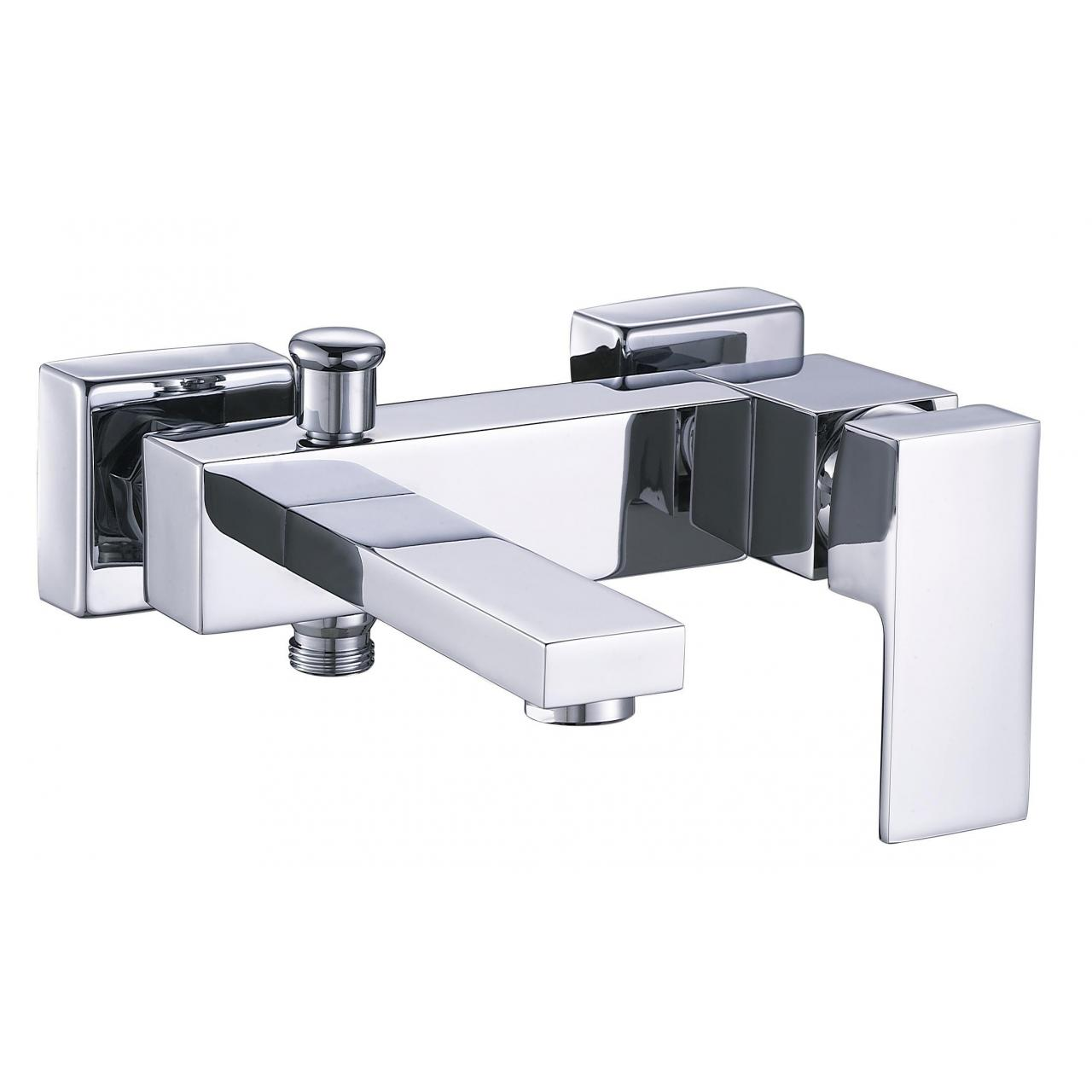 Sanitary Ware Square single lever chrome brass bathroom roman bathtub faucets AF-12503