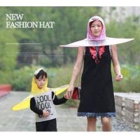 eco-friendly foldable fishing men women kids head umbrella creative non-handle hat